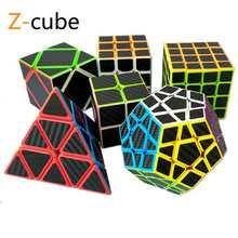 ZCUBE 7 rodzajów naklejki z włókna węglowego magiczne kostki rubika Puzzle zabawki dla dzieci prezent dla dzieci zabawki młodzieżowe dla dorosłych