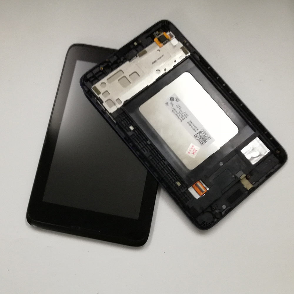 For Lenovo IdeaTab A3500 A3500-F A3500-H A7-50 Touch Screen Digitizer Sensor Panel Glass + LCD Display Panel Assembly Frame чехол для планшета tablet pu 7 lenovo ideatab a7 50 a3500 for 7 lenovo ideatab a7 50 a3500 tablet