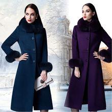 Шерстяное длинное пальто новые женские брендовые топы роскошный