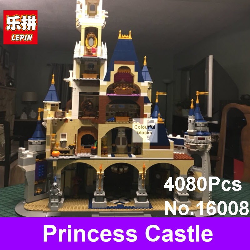 2017 LEPIN 16008 Cinderella Princess Castle Model Building Kits Blocks Bricks Christmas Gifts Toys For Children Compatible 71040 new lepin 16008 cinderella princess castle city model building block kid educational toys for children gift compatible 71040