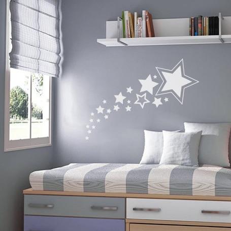 ⑥Bebé vivero estrellas pegatina de pared niños estrellas tatuajes ...