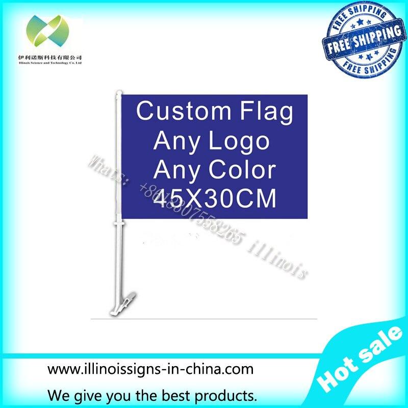 30x45cm car window flag custom flag any color any logo