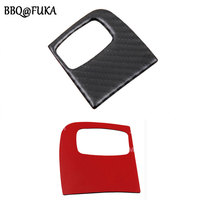 BBQ@FUKA 1Pc Carbon Fiber Car interior Key Panel Kit Frame Trim Cover Decoration Fit For Audi A4 A5 B8 B9 2009 2015 Car Styling