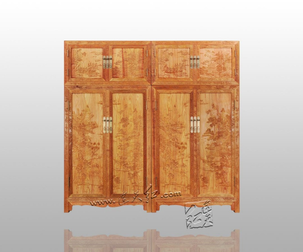 Japanese Classical Rosewood Wardrobe Home Bed Room Solid Furniture Redwood Garderobe Antique Clothespress Chinese Style Drawers