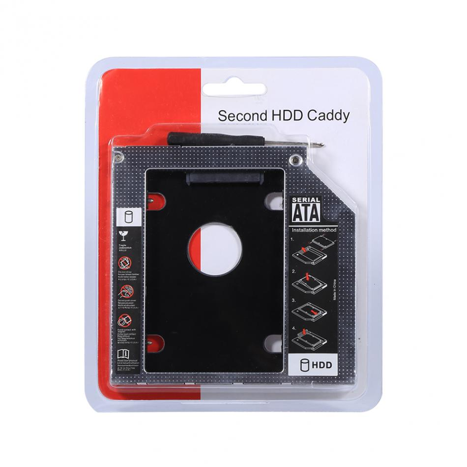 for 2.5 9.5mm SATA HDD / SSD Enclosure Hard Disk Drive Bay Caddy Optical DVD Adapter for Laptop