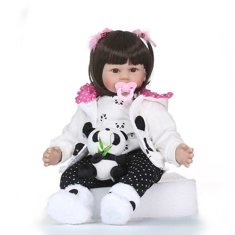 Nicery 23-24inch 58-60cm Bebe Reborn Doll Soft Silicone Boy Girl Toy Reborn Baby Doll Gift for Children White Coat Baby Doll nicery 18inch 45cm reborn baby doll magnetic mouth soft silicone lifelike girl toy gift for children christmas pink hat close
