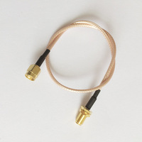 ALLISHOP SMA Male Right Angle to RP SMA Female Jack RP Adapter Connector RF Coaxial Pigtail Cable Connector RG316 15M