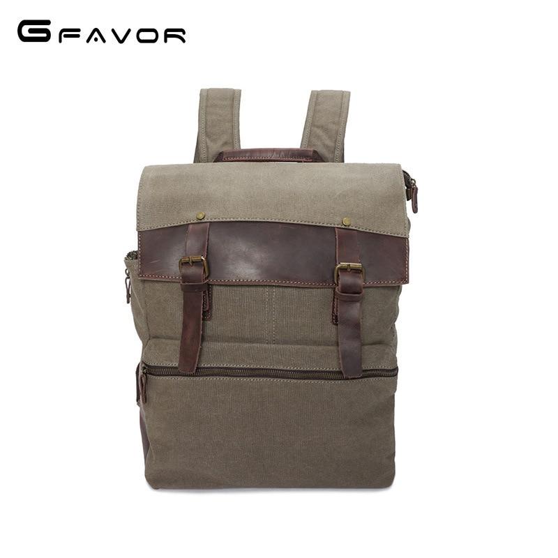 2018 New Middle School Backpacks Vintage Canvas Flap Pocket Multifunction Leather Men Waterproof Back Pack School Backpack Bag back vent flap pocket pea coat