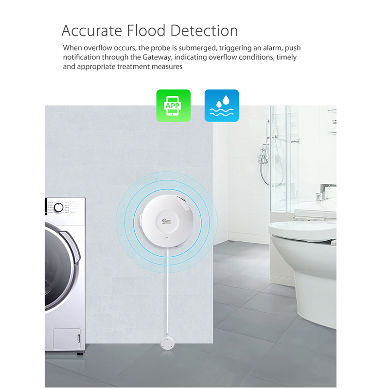Image 2 - NEO Coolcam Smart WiFi Water Sensor Wi Fi Leak Detector Alarm Sensor and App Notification Alerts Support IFTTTsensor sensoralarm detectorflood sensor -