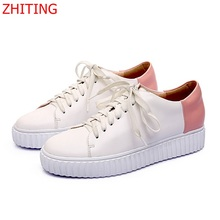 Star models Small White Shoes 2017 New Style Loafers Comfortable Wear Rubber Sole Cross strap Woman Fashion Flat Shoes Size 39