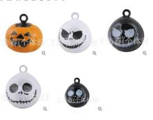 New 50 pcs Halloween pumpkin Nightmare Before Christmas bell pendant  Charm  DIY Jewelry Making