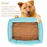 Pet الكلاب القطط الكلب عش سرير الجرو سادة البيت السوبر الدافئة حصير حصيرة وسادة إمدادات بيت الكلب منزل الحيوانات xl حجم