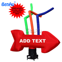 AD012 BENAO Hot selling Giant Arrow Inflatable Air dancer /Inflatable single leg air dancer 3m 10ft High Free shipping cost