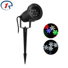 ZjRight Outdoor Holiday Light LED Snowflake Projector White red blue green Color Waterproof IP44 Snow Laser Christmas Lights