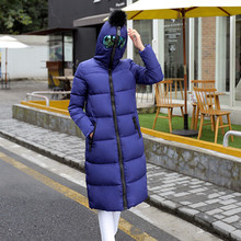 spring winter long Slim Down padded anti-fog and haze hooded thick warm coat female glasses women fashion outwear coat padded