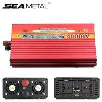 Автомобильный инвертор Мощность 3000 Вт 4000 Вт электроники DC 12 В к AC 220 В 110 В автомобилей Зарядное устройство USB напряжение конвертер дорожные а