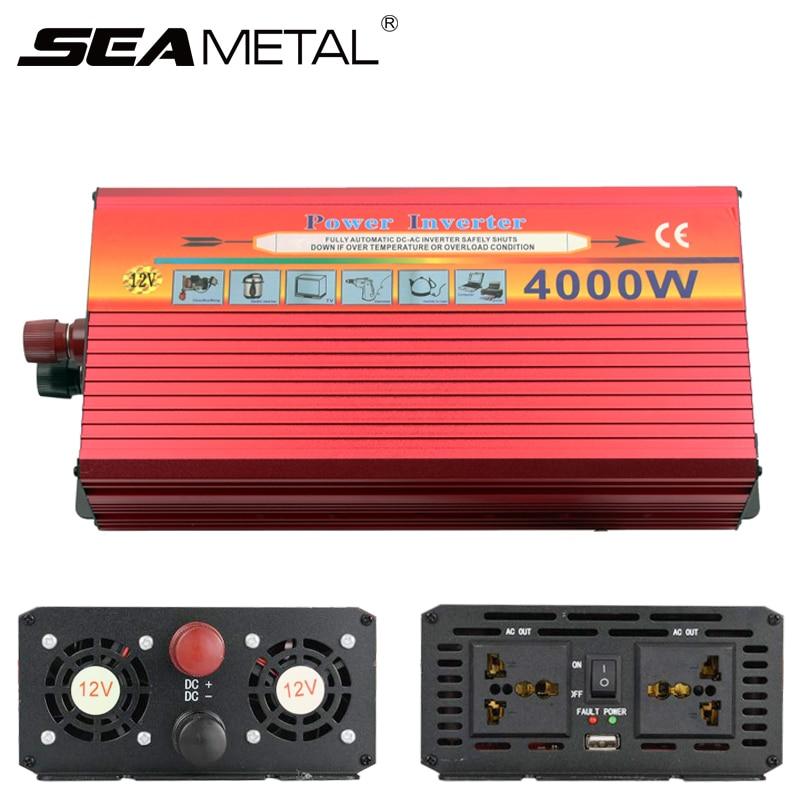 Автомобильный инвертор Мощность 3000 Вт 4000 Вт электроники DC 12 В к AC 220V 110V автомобильное зарядное устройство USB Напряжение конвертер дорожные а