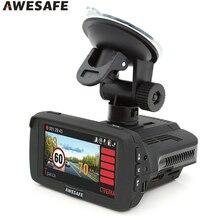 AWESAFE Car Radar 3 in 1 GPS DVR for Russia Ambarella A7 Speedcam X/K/Ka/La/CT Anti Radar Detector 1080P Car Recorder Registrar