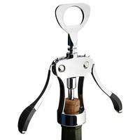 Zinc Alloy Bottle Opener Stainless Steel Red Wine Beer Openening Wing Corkscrew Type Drinking Bar Accessories Kitchen Tools H4
