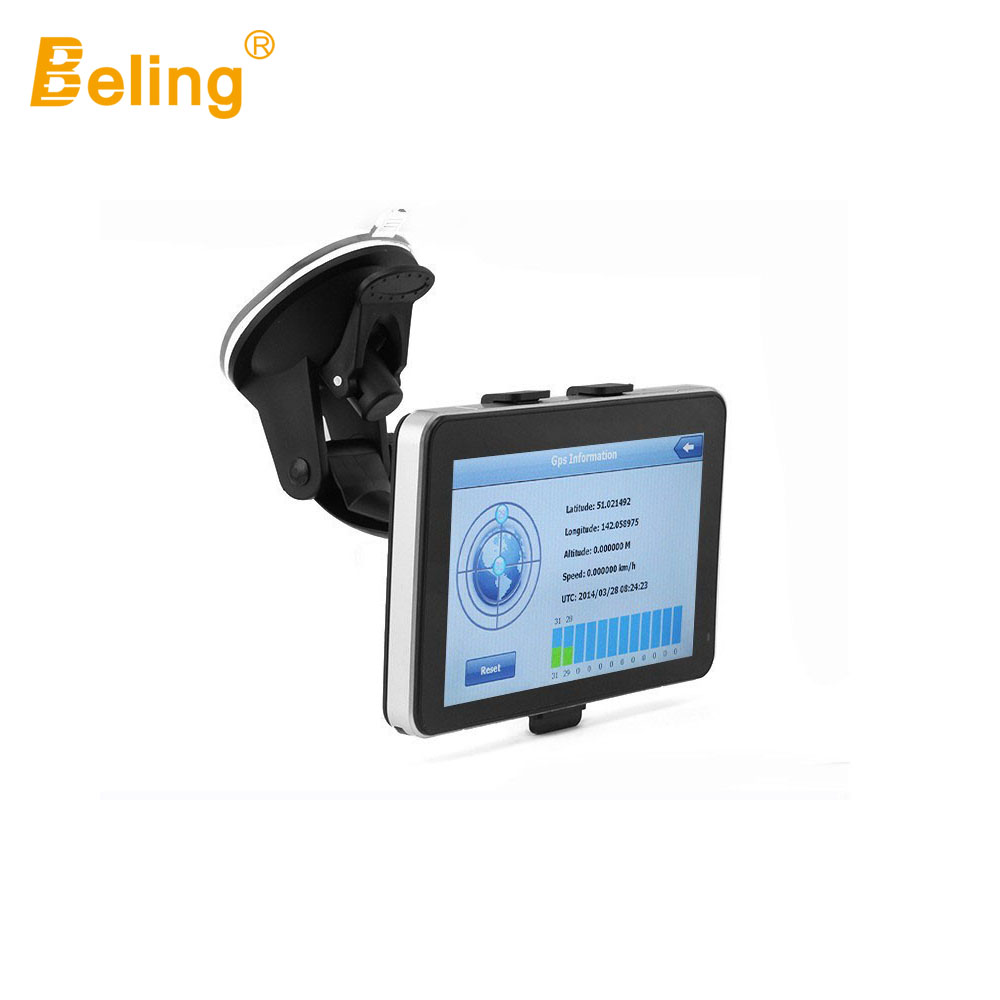 Beling G710A car gps navigation with AV IN 7 in touch screen wince 6.0 8GB vehicle navigator FM sat map MP4 Sat Nav Automobiles edaohang e53 5 touch screen lcd wince 6 0 gps navigator w fm 8gb black