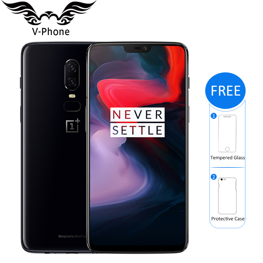 Brand New Oneplus 6 4G LTE Mobile Phone 6.28'' Snapdragon 845 Octa Core 8GB RAM 128GB ROM Android 8.1 20MP NFC Smartphone-in Cellphones from Cellphones & Telecommunications    1