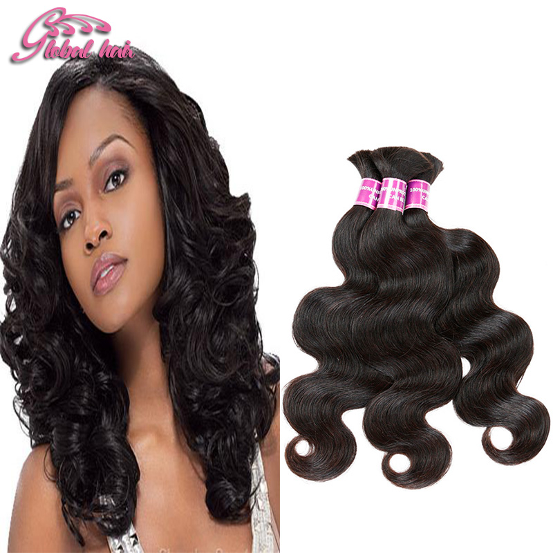 Mixed Length Indian Virgin Hair Body Wave Human Braiding Hair Bulk 3pcs Unprocessed Human Hair For