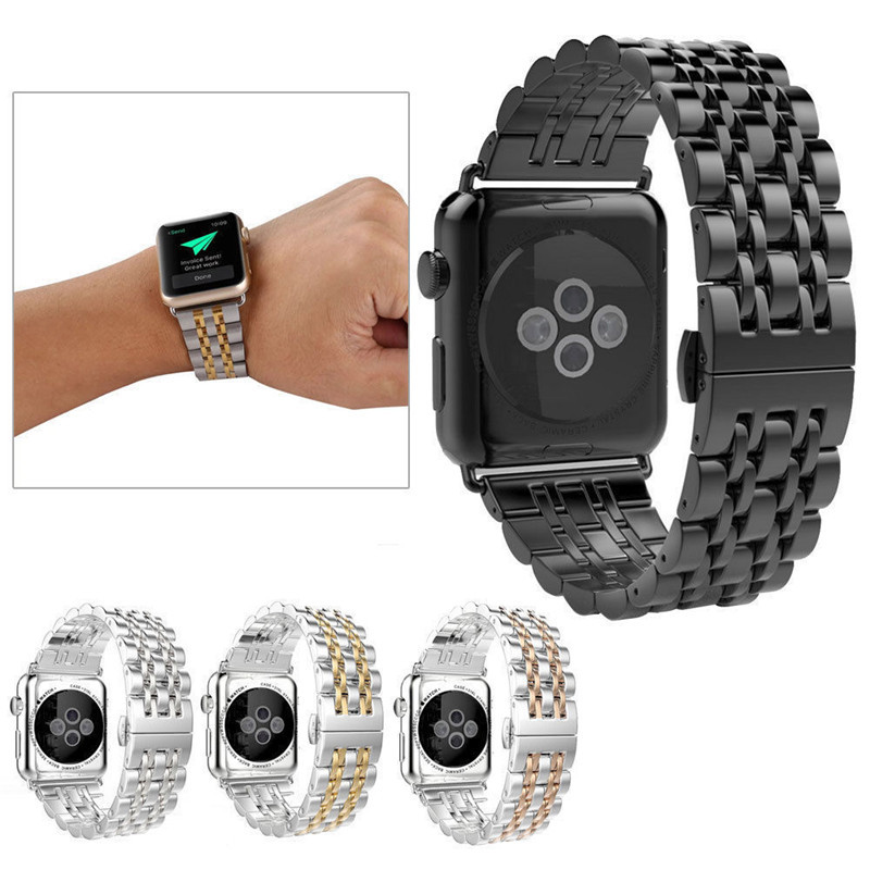 Watchband For Apple Watch Band 38mm 42mm Stainless Steel Business Replacement Strap Bracelet For iWatch Series 1 2 crested stainless steel watch band strap for apple watch 42 mm 38 mm link bracelet replacement watchband for iwatch serise 1 2