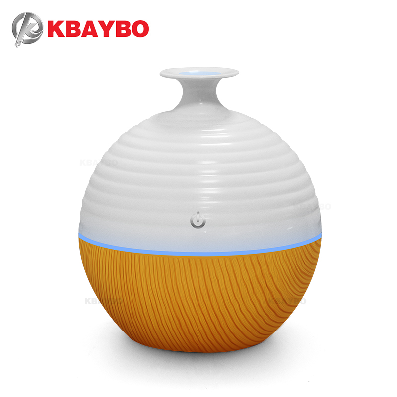 USB Ultrasonic Humidifier 130ml Aroma Diffuser Essential Oil Diffuser Aromatherapy mist maker with 7 color LED Light Wood grain crdc air humidifier ultrasonic 100ml aroma diffuser glass essential oil diffuser mist maker with 7 colors changing led light