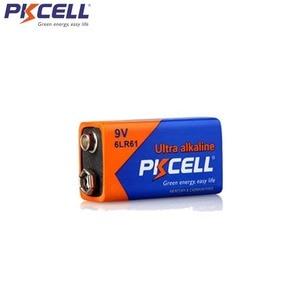 Image 4 - 6Pcs PKCELL 9V 6LR61 אלקליין סוללה 1604A 6AM6 MN1604 522 סופר יבש סוללות עבור עשן גלאי גז תנורי מים דוד