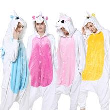 c84e45f81e6a0 Взрослых Пижама Мужская пижама животного пижамы сна костюм Для женщин милый  мультфильм аниме Единорог пижамные комплекты