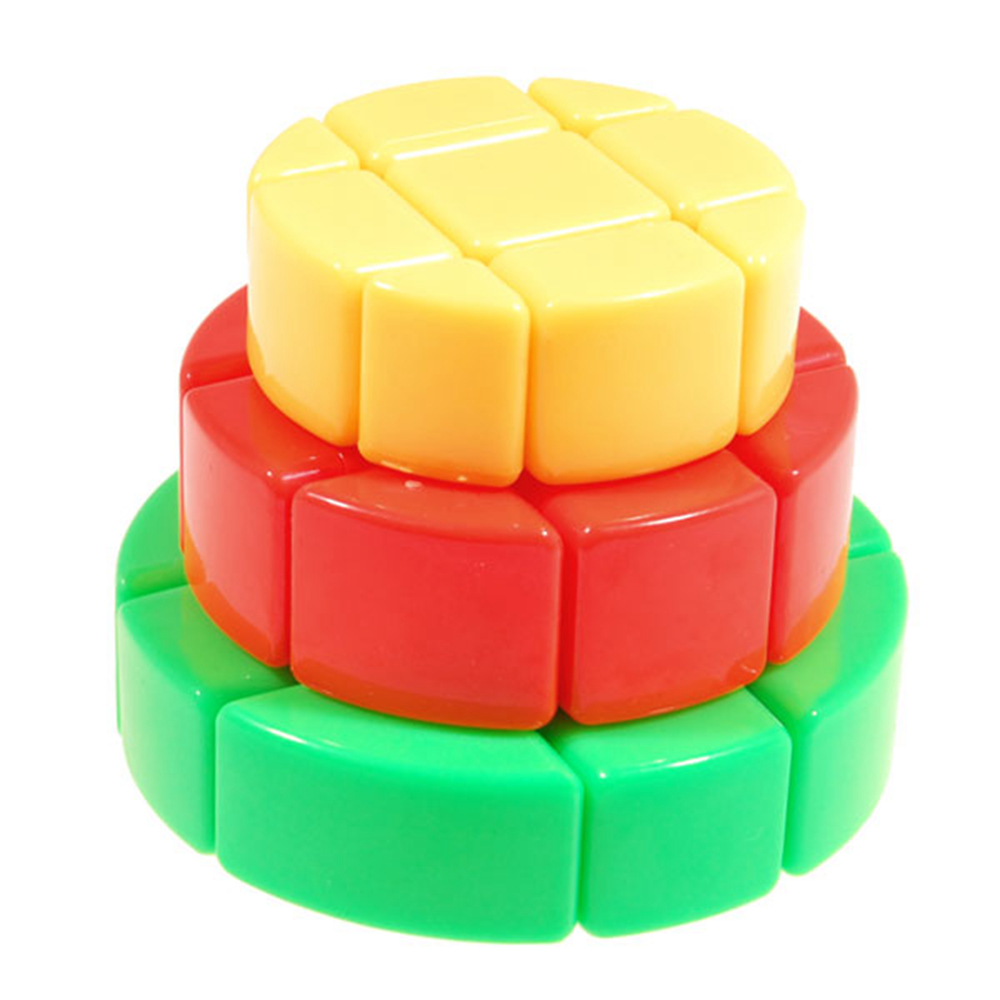 3x3x3 ZhiSheng Colorful Cake Magic Cube Puzzle Speed Cubo Magico Educational Special Kids Toys