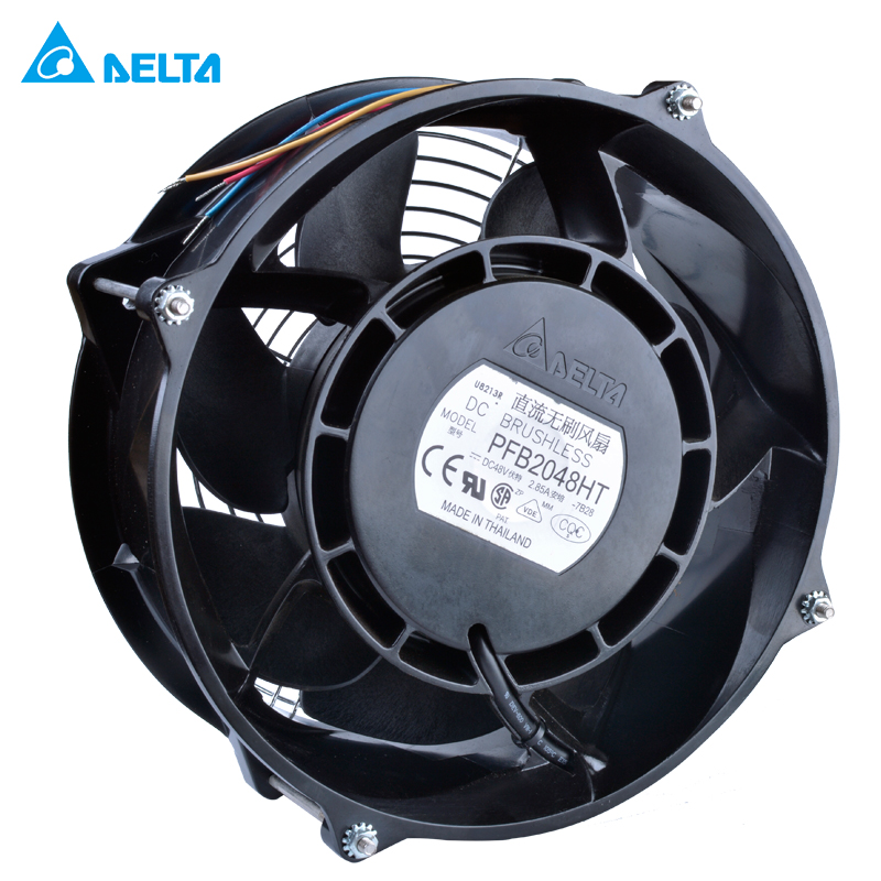 PFB2048HT-TP37 DELTA 208x208x70mm 48V 2.85A FAN AXIAL DC WIRE cooling fan delta efb1248hh r00 12025 48v 0 12a 12cm cooling fan