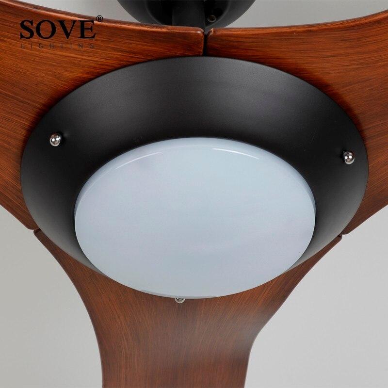 52 tommer Chrome Moderne LED Loftsventilatorer Med Lygter Plastklinge - Indendørs belysning - Foto 5
