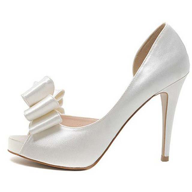 L YC Talons Hauts De La Femme Printemps / ÉTé / automne Ouvert Toe Satin Wedding / Party & Evening / Dress , Blanc , 43