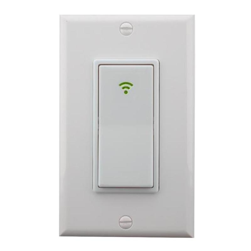 Smart WIFI LED Light Switch 120 Type 1 Gang AC 100-240V Wall Panel Mobile APP Remote Con ...