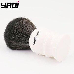 Image 3 - Yaqi 30 ミリメートルサイズノット白ハンドル黒人工毛シェービングブラシ
