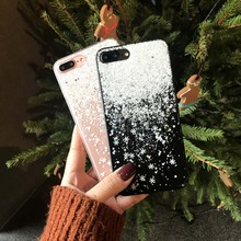OLOEY For Coque iPhone 8 Plus X 6S 6 7 Funda Star Snowflakes Soft TPU Silicone Case Cover for Apple Capas