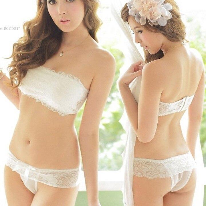 2015 New Women Underwear Sexy Bra Set Black White Lace