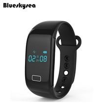 Blueskysea JW018 Bluetooth Smart часы монитор сердечного ритма фитнес Браслет A01 для iOS и Android-смартфон