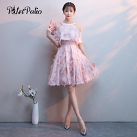 Sexy Feathers Short Evening Dress with Jacket Sweet Halte Off Shoulder A Line Pink Formal Party Gown Special Occasion Dresses