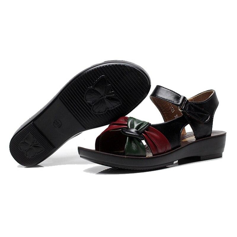 de30eb6fdf5e LAKESHI Women sandals 2018 summer flat sandals fashion Mother shoes leather  Soft bottom ladies sandals comfortable women shoes - aliexpress.com -  imall.com