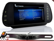 """7"""" Inch Rearview Mirror Monitor and Multimedia MP4 Player FM Transmitter with IR Night vision Plate CMOS HD Camera"""