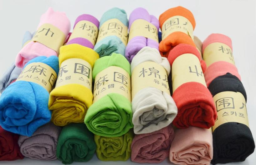 MUQGEW New Arrival Fashion Ladies Women Long Candy Colors Soft Cotton Scarf Wrap Shawl Scarves Stole Neckerchief Tippet