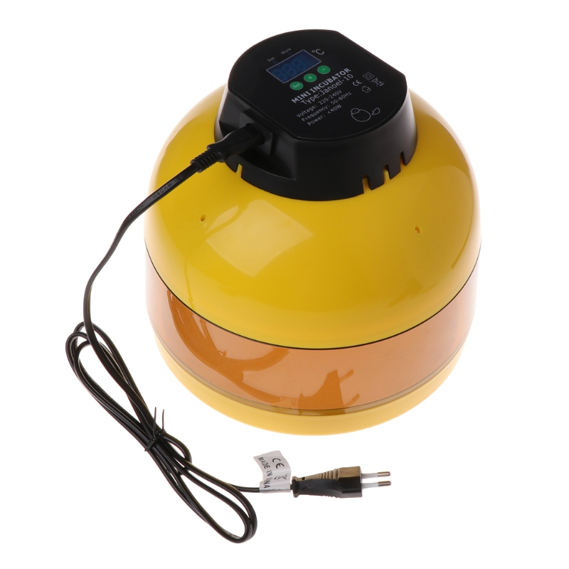 ABS Egg Incubator Mini 10 Eggs Hatcher Hatchery Chicken LED Digital Temperature EU Farm Animal Hatching