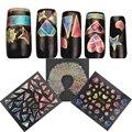 1 Unids Nueva Irregular Roto Vidrio celofán Aurora 3D Nail Art Stickers Transferencia de Agua Del Arte Del Clavo Inclina La Decoración Calcomanía de Uñas diseño