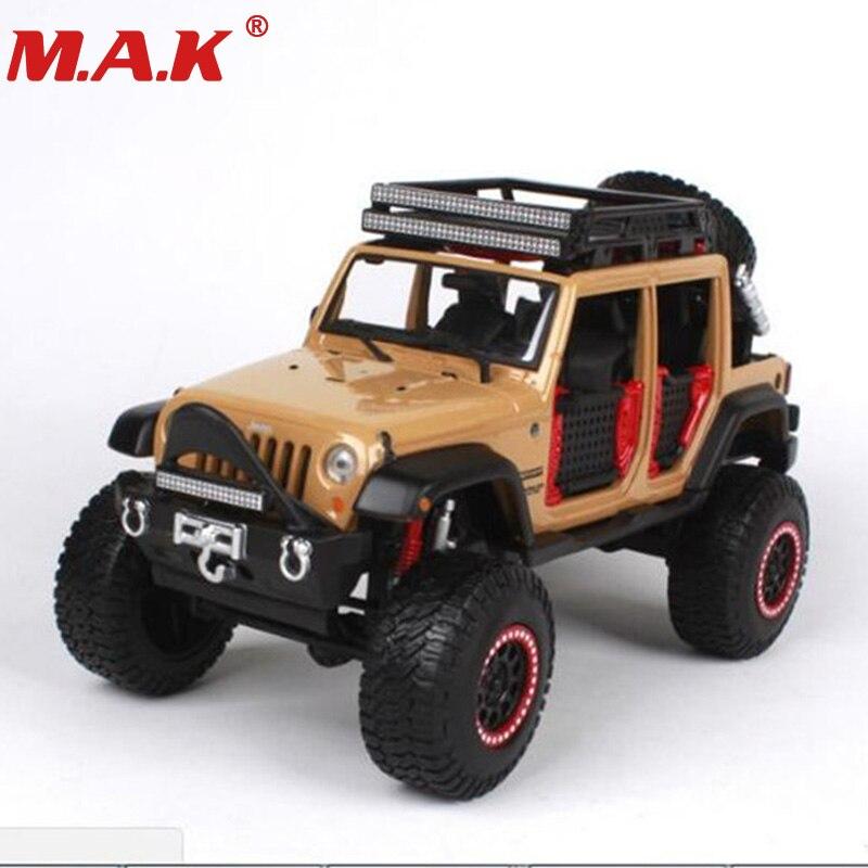 все цены на car toys for children 1:24 scale Jeep wrangler Unlimited Diecast car model 3 colors collectible big feet SUV models онлайн