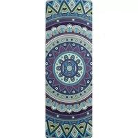 183 см * 61 см * 5 мм Новый стиль натуральный каучук впитывает пот Environmrntal Удобная замшевая ткань нескользящая потеря упражнений йога коврик