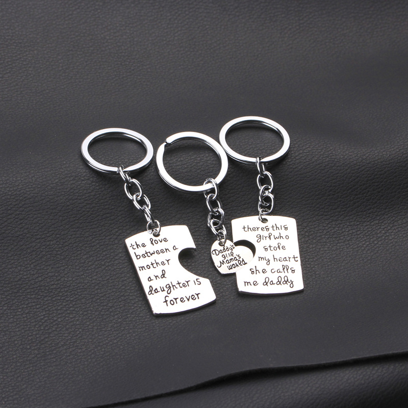 Christmas Gifts Fathers Mothers Child Jewelry Key Chains Gift, Mommy ...