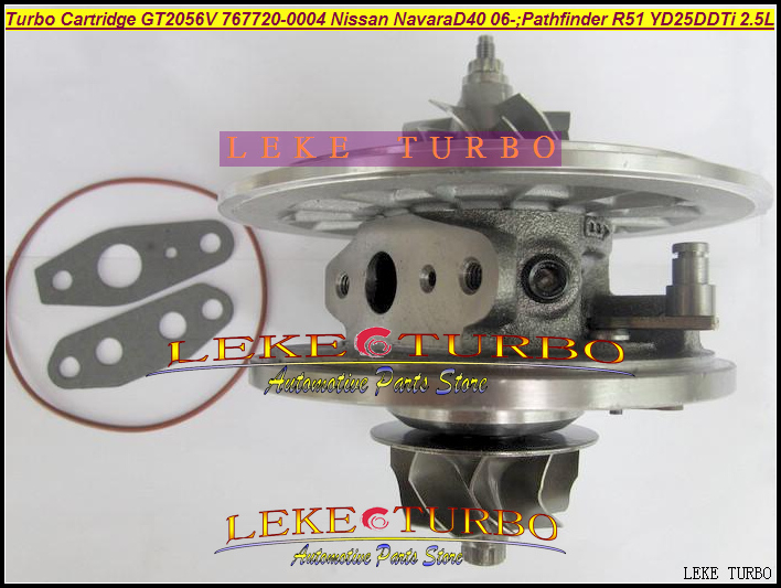Turbo Cartridge CHRA GT2056V 767720-0004 14411-EB70C Turbocharger For NISSAN Navara D40 2006-;Pathfinder R51 YD25 YD25DDTi 2.5L free ship turbo for nissan terrano ii pathfinder 01 05 td27ti 2 7l gt2052s 722687 14411 7f411 722687 5001s turbocharger gaskets