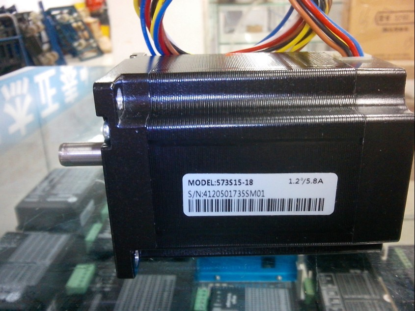 цена на Free shipping Leadshine 3-phase hybrid stepper motor NEMA 23 573S15 use 6 motor leads Current /phase 5.8A Holding Torque 1.5N